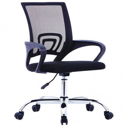 Czarny fotel obrotowy Savo