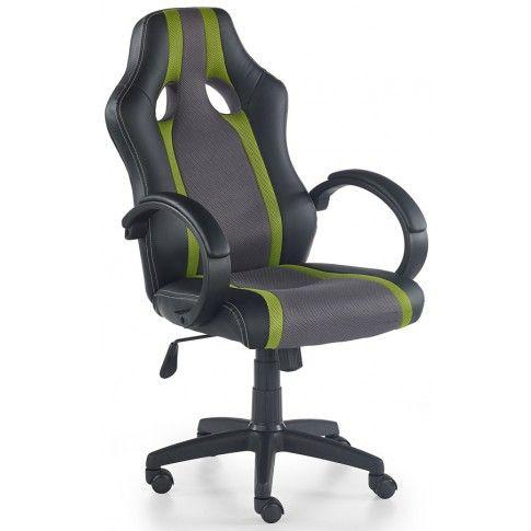 Zdjęcie produktu Fotel biurowy Preton - popiel + zielony.