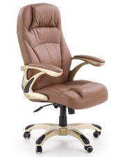 Fotel obrotowy Karel - brązowy