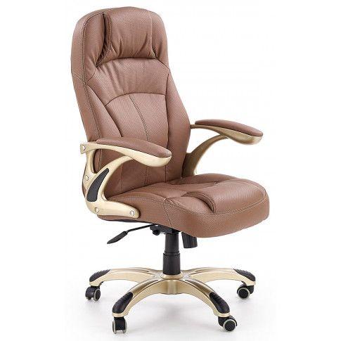 Zdjęcie produktu Fotel obrotowy Karel - brązowy.