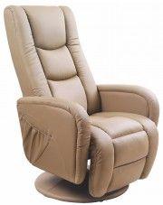 Fotel masujący Litos - beżowy w sklepie Edinos.pl