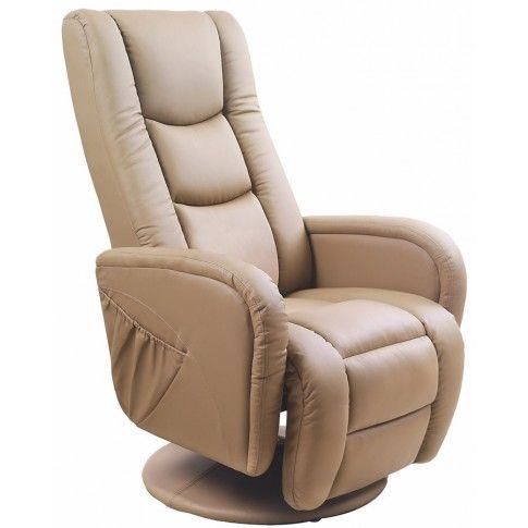 Zdjęcie produktu Obrotowy fotel masujący do salonu Litos - beżowy.