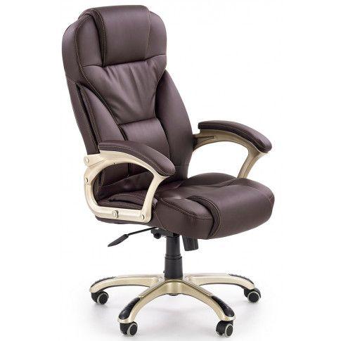 Zdjęcie produktu Fotel obrotowy Tucker - brązowy.