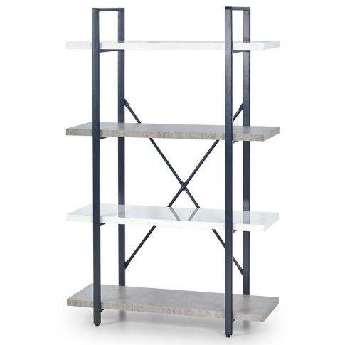 Zdjęcie produktu Industrialny regał Tones 4X - biały połysk + beton.