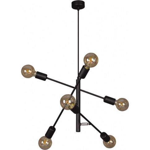 Czarna loftowa lampa wisząca patyki S138-Lemos