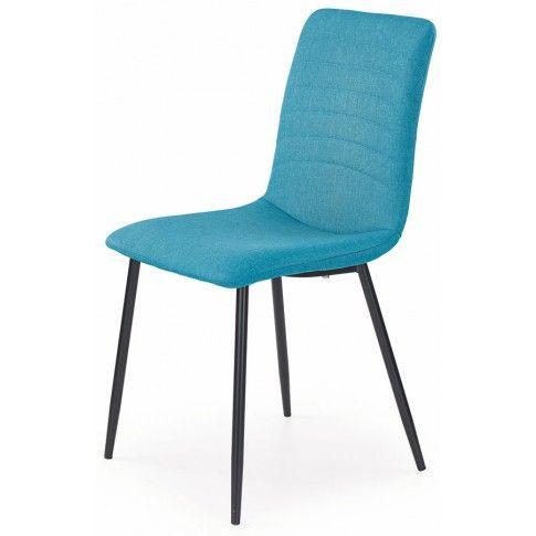 Zdjęcie produktu Krzesło tapicerowane Revis - turkusowe.
