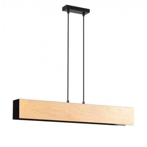 Drewniana czarna wisząca lampa D004-Nomad
