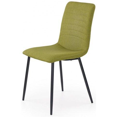 Zdjęcie produktu Krzesło tapicerowane Revis - zielone.