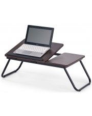 Regulowany stolik pod laptopa Lavix - ciemny orzech w sklepie Edinos.pl