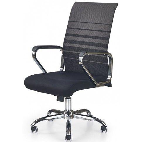 Zdjęcie produktu Fotel obrotowy Travor - popielato-czarny.