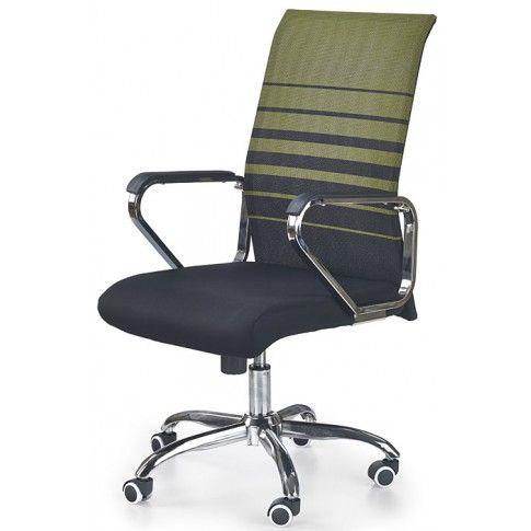 Zdjęcie produktu Fotel obrotowy Travor - zielono-czarny.