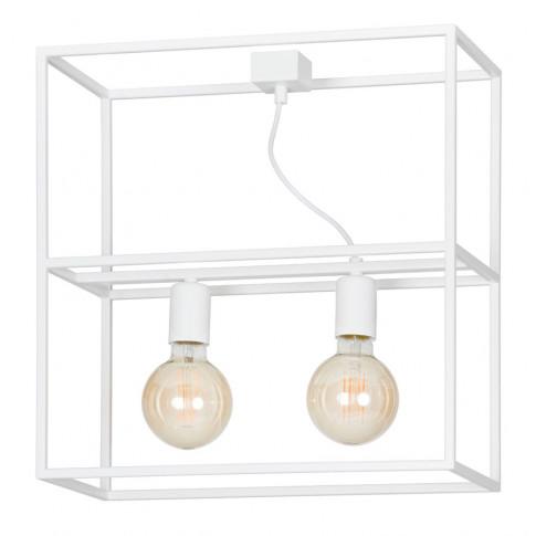 Biała nowoczesna lampa sufitowa w stylu loftowym D022-Avner