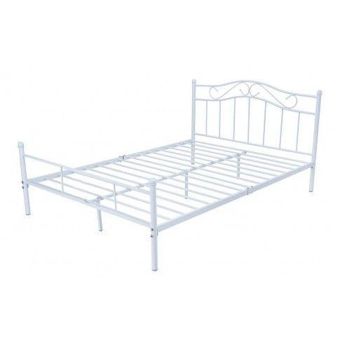 Łóżko metalowe białe Inello 160x200 w sklepie Edinos.pl