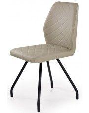 Krzesło tapicerowane Adeks - cappuccino w sklepie Edinos.pl