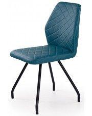 Krzesło tapicerowane Adeks - turkusowe w sklepie Edinos.pl