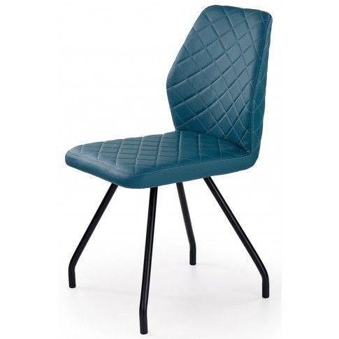 Zdjęcie produktu Krzesło tapicerowane Adeks - turkusowe.