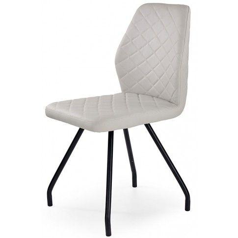 Zdjęcie produktu Krzesło tapicerowane Adeks - popielate.