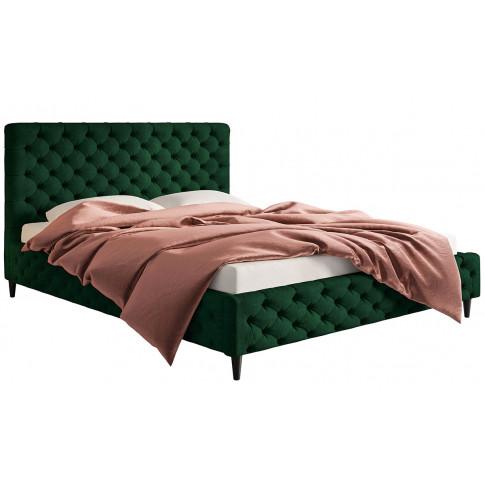 Tapicerowane pikowane łóżko z zagłówkiem 140x200 Cortis