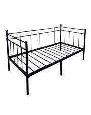 Łóżko metalowe czarne Toles 90x200 w sklepie Edinos.pl