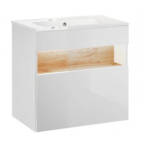 Szafka pod umywalkę z podświetleniem LED Monako 2X 60 cm