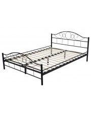 Łóżko metalowe czarne Sanser 140x200