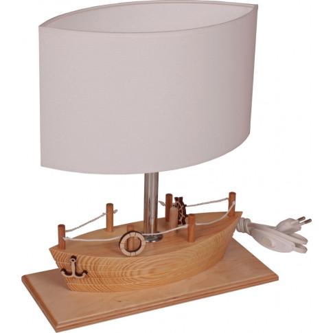 Drewniana lampka dziecięca statek S185-Mirva