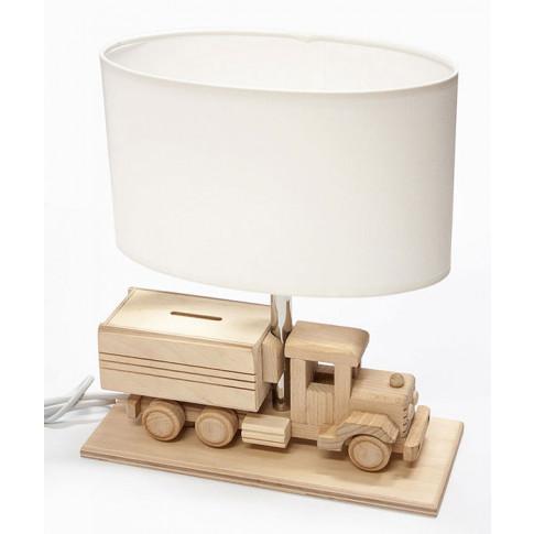 Drewniana lampka dziecięca ze skarbonką ciężarówka S190-Edvin
