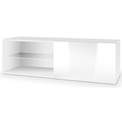 Zdjęcie produktu Wisząca szafka RTV z oświetleniem Vomes 5X - biały połysk.