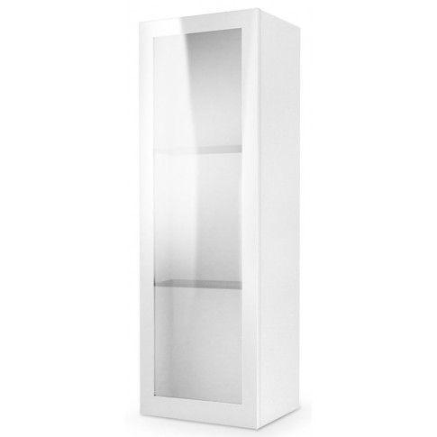 Zdjęcie produktu Wisząca witryna z oświetleniem Vomes 10X - biały połysk.