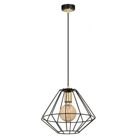 Czarna metalowa lampa wisząca D048-Nadis