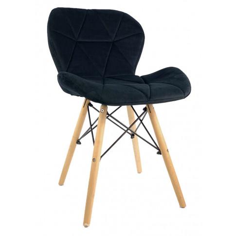 Czarne krzesło welwetowe Ksenin 3X