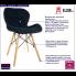 Czarne krzesło welwetowe z oparciem Ksenin 3X