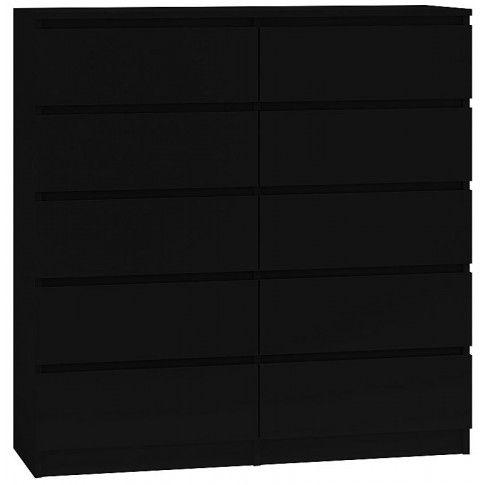 Zdjęcie produktu Komoda Rossa 2X 140 cm - czarna.