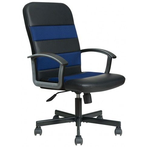 Zdjęcie produktu Fotel obrotowy Paris - niebiesko-czarny.