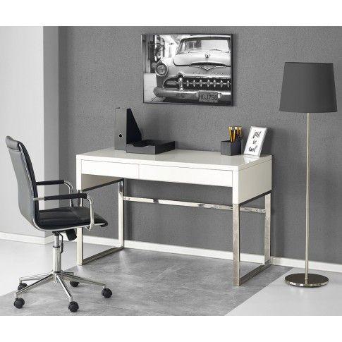 Zdjęcie produktu Lakierowane biurko Folger - biały połysk.