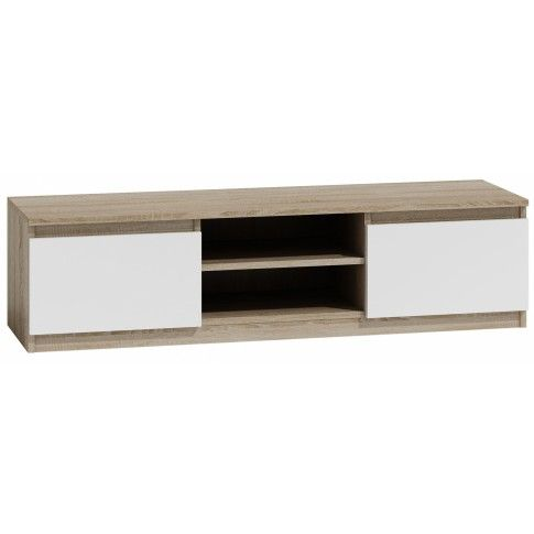 Szafka RTV Verta 2X 120 cm - biała + dąb sonoma w sklepie Edinos.pl