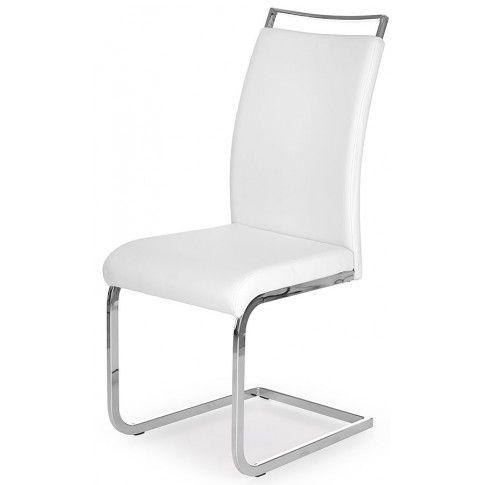 Zdjęcie produktu Tapicerowane krzesło Hader - białe.