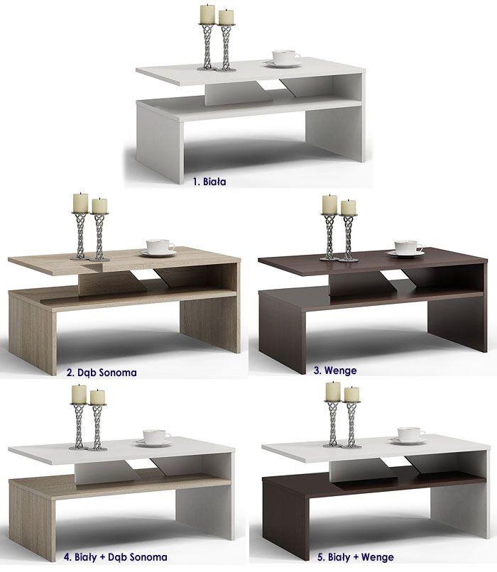 Prostokątny stolik kawowy do salonu Orina