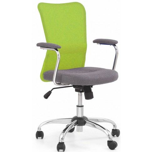 Zdjęcie produktu Młodzieżowy fotel obrotowy Alwer - zielony.