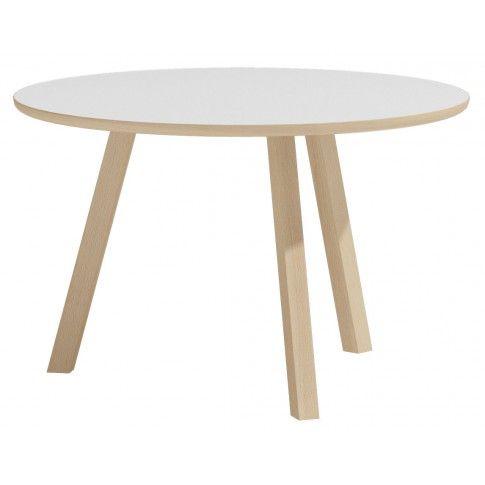 Skandynawski stolik kawowy Lindo 3X - biały w sklepie Edinos.pl
