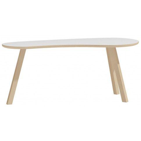Zdjęcie produktu Owalny stolik kawowy Lindo 4X - biały.