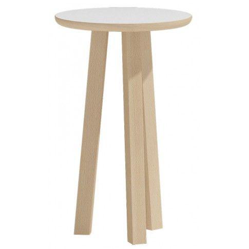 Zdjęcie produktu Okrągły stolik kawowy Lindo 5X - biały.