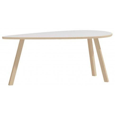 Drewniany stolik kawowy Lindo 9X - biały w sklepie Edinos.pl
