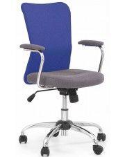 Fotel młodzieżowy Alwer - niebieski