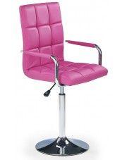 Fotel młodzieżowy Amber - różowy