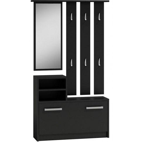 Zdjęcie produktu Garderoba z wieszakiem do przedpokoju Salma - czarna.