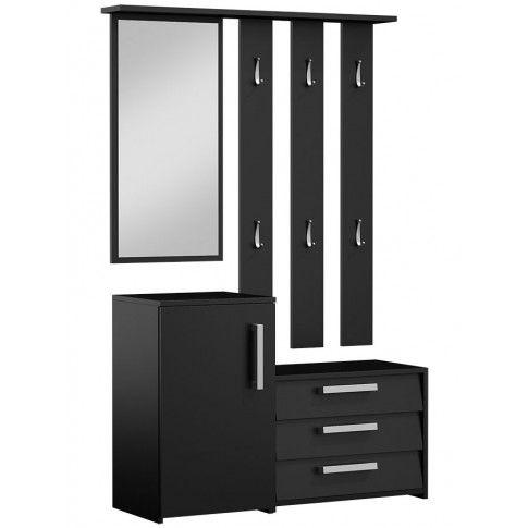 Zdjęcie produktu Garderoba z lustrem Senea - czarna.