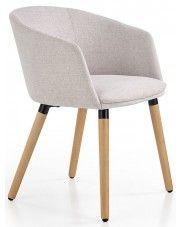 Krzesło drewniane Nevil - jasny popiel