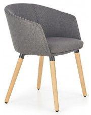 Krzesło skandynawskie Nevil - ciemny popiel