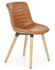 Krzesło drewniane Lorien - brązowe w sklepie Edinos.pl
